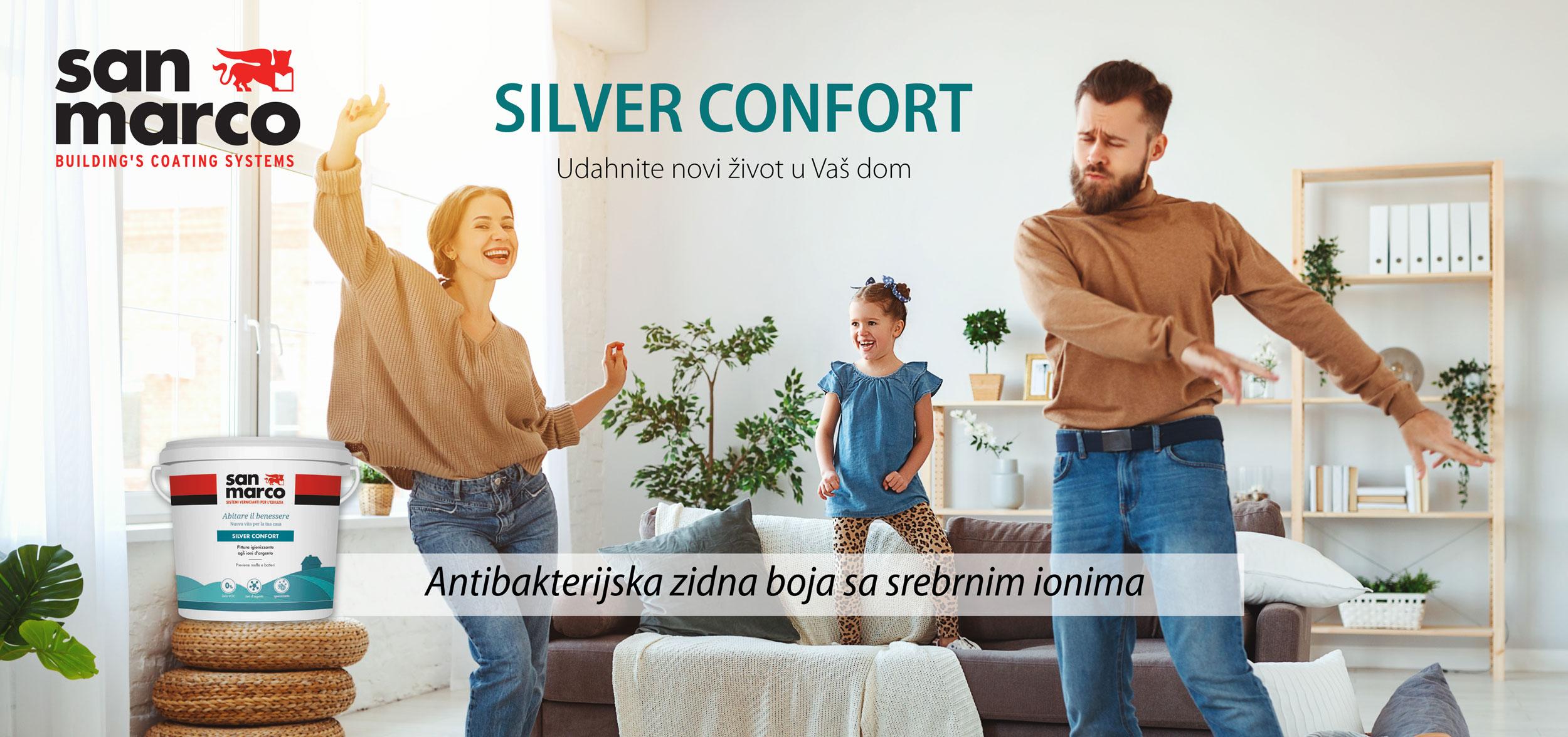 silverconfort antibakterijska boja